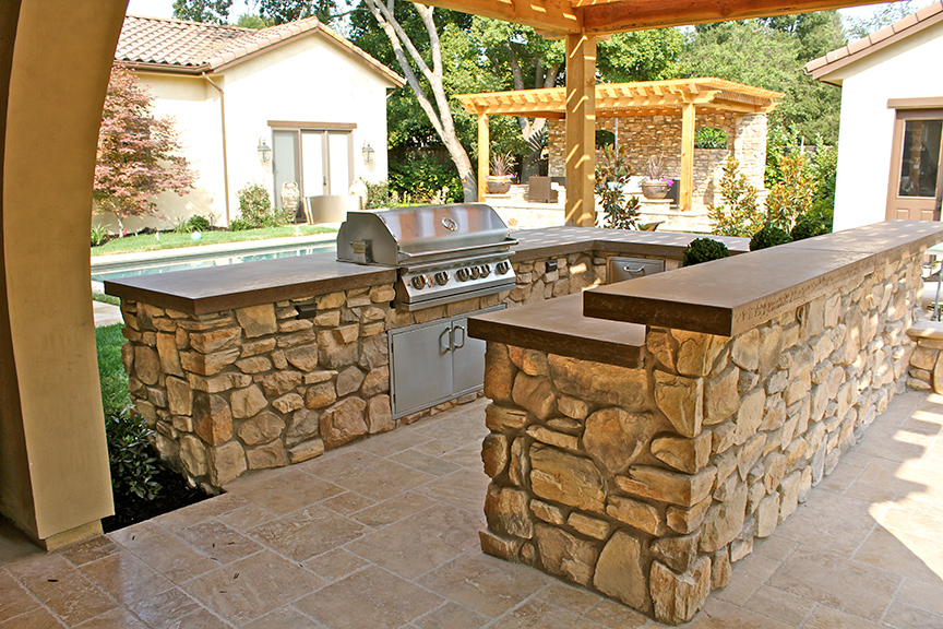 Outdoor Kitchens - Concrete Countertops - Alamo